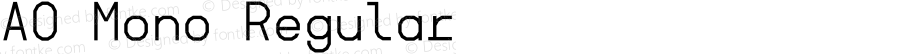 AO Mono Regular Version 1.002;Fontself Maker 2.1.1