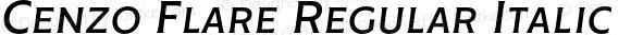 Cenzo Flare Regular Italic
