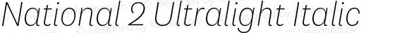 National 2 Ultralight Italic