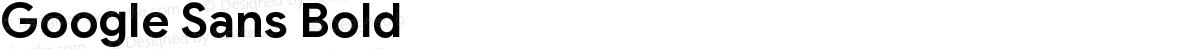 Google Sans Bold