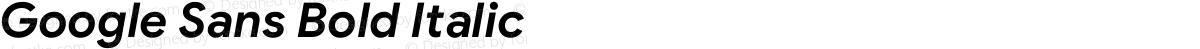 Google Sans Bold Italic