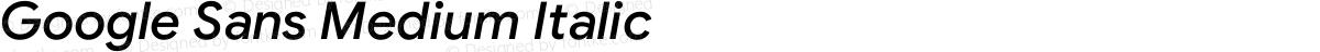 Google Sans Medium Italic