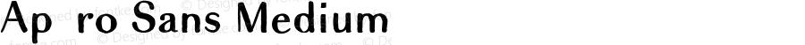 Apéro Sans Medium Version 1.00, SI, August 27, 2016, initial release