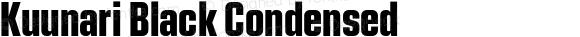 Kuunari Black Condensed