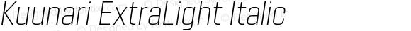 Kuunari ExtraLight Italic