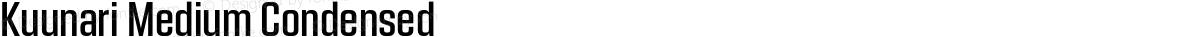 Kuunari Medium Condensed