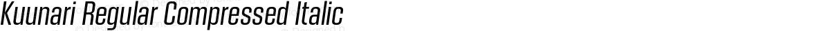 Kuunari Regular Compressed Italic
