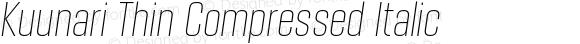 Kuunari Thin Compressed Italic