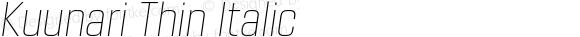 Kuunari Thin Italic