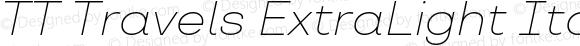 TT Travels ExtraLight Italic