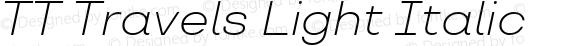 TT Travels Light Italic