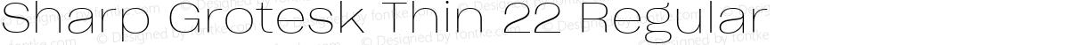 Sharp Grotesk Thin 22 Regular