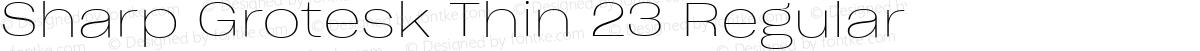 Sharp Grotesk Thin 23 Regular
