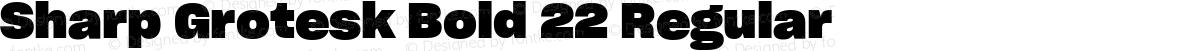 Sharp Grotesk Bold 22 Regular