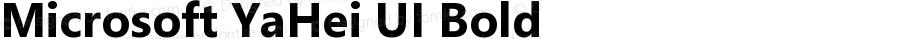 Microsoft YaHei UI Bold Version 11.1.3