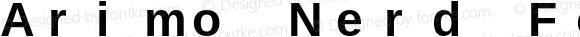 Arimo Nerd Font Mono Bold Version 1.23
