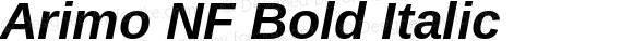 Arimo NF Bold Italic Version 1.23
