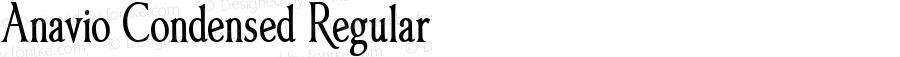 Anavio Condensed Regular Version 1.00, SI, March 30, 2010, initial release