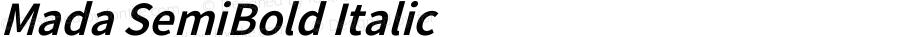 Mada SemiBold Italic