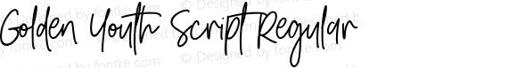 Golden Youth Script Regular
