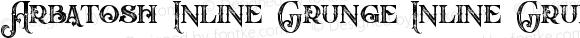 Arbatosh Inline Grunge Inline Grunge Version 1.000