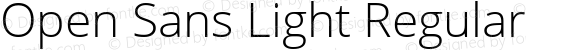 Open Sans Light Regular Version 1.10