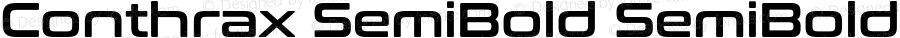 Conthrax SemiBold SemiBold Version 1.00
