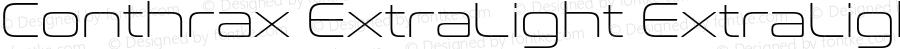 Conthrax ExtraLight ExtraLight Version 1.00