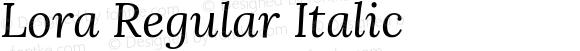 Lora Regular Italic