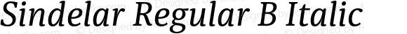 Sindelar Regular B Italic