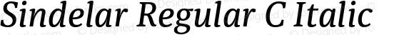 Sindelar Regular C Italic