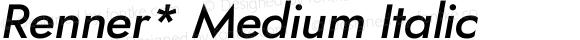 Renner* Medium Italic