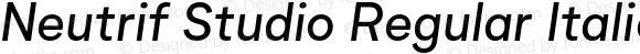 Neutrif Studio Regular Italic
