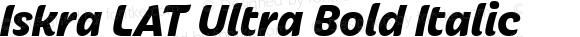 Iskra LAT Ultra Bold Italic