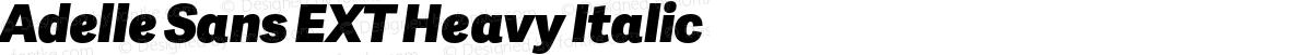 Adelle Sans EXT Heavy Italic