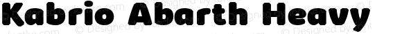 Kabrio Abarth Heavy