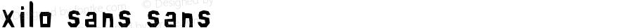 xilo-sans sans Version 001.000