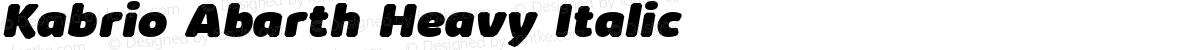 Kabrio Abarth Heavy Italic