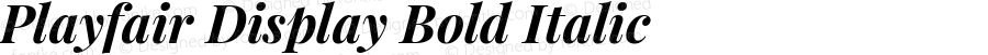 Playfair Display Bold Italic
