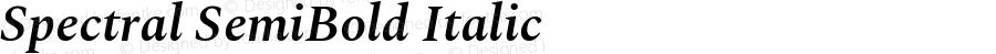 Spectral SemiBold Italic