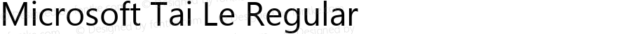 Microsoft Tai Le Regular Version 5.99