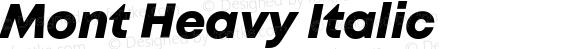 Mont Heavy Italic