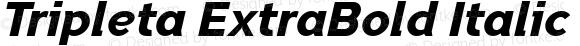 Tripleta ExtraBold Italic