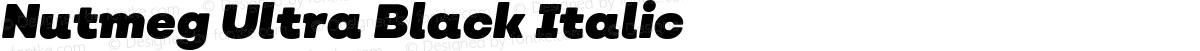 Nutmeg Ultra Black Italic