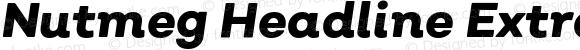 Nutmeg Headline Extra Bold Italic