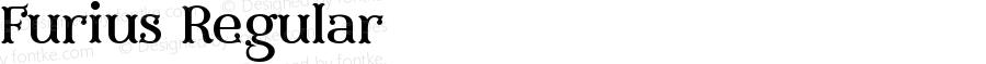 Furius Regular Version 1.00 September 25, 2014, initial release