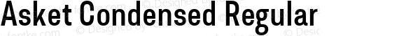 Asket Condensed Regular 001.000