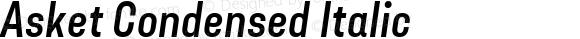 Asket Condensed Italic 001.000
