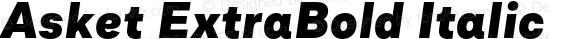 Asket ExtraBold Italic 001.000