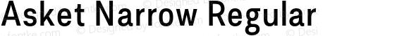 Asket Narrow Regular 001.000